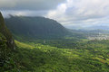 Pali lookout view from oahu hawaii Royalty Free Stock Images