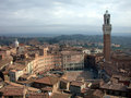 Piazza del Campo, Siena, where the Palio di Siena is held Royalty Free Stock Photo