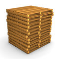 Pallet batch a of pallets on the white background Royalty Free Stock Image
