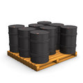 Pallet Oil Barrel Royalty Free Stock Photos