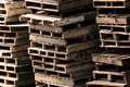 Pallet piles image of old background Stock Photography