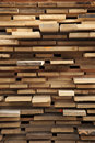 Pallet with rough sawn wood planks freshly on dry piles Royalty Free Stock Photo
