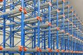Pallet shelves shelving system in distribution warehouse Royalty Free Stock Image