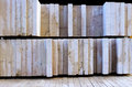 Pallet stone slabs cut and polished on a Royalty Free Stock Photography