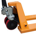 Pallet truck detail with clipping path Royalty Free Stock Image