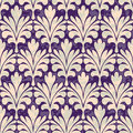 Pallm damask seamless neo vintage ornament background pattern Royalty Free Stock Images