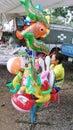 Palloni nel mercato di prodotti freschi Immagine Stock Libera da Diritti