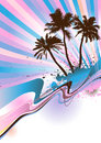 Palm beach Vector Royalty Free Stock Image