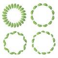 Palm leaf frame set vector illustration eps Stock Photography