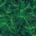 Palm leaf green full page seamless pattern