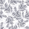 Palm leaves. Doodle style Royalty Free Stock Photo