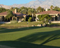 Palm Springs golf course homes Royalty Free Stock Photos