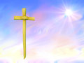 Palm sunday or easter background pretty colours for christian Royalty Free Stock Images