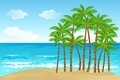 Palm Tree in Beach Royalty Free Stock Photo