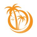 Palm tree emblems. icon sign. design element Royalty Free Stock Photography