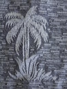 Palm tree print a beautiful grey of a Stock Images