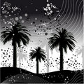 Palm tree vector illustration Royalty Free Stock Image