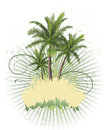 Palm trees flyer design with eps illustration Stock Photography