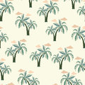 Palm trees Seamless pattern. Royalty Free Stock Photo
