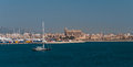 Palma de majorca panorama viewed from the sea Royalty Free Stock Photography