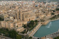 Palma de mallorca cathedral aerial view Royalty Free Stock Photo