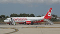 Palma de Mallorca, Spain: Air Berlin Boeing 737-800 Stock Photo