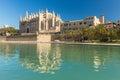 Palma de mallorca spain la seu the cathedral of Stock Images