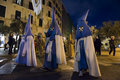 Palma majorca spain march holy week procession spain easter christians spain celebrate holy week procession coming clothes typical Stock Photo