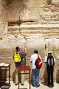 Palmers near The Western Wall Stock Image
