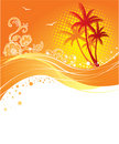 Palms banner Royalty Free Stock Photo