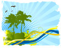 Palms beach banner Royalty Free Stock Photo
