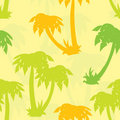 Palms seamless pattern, vector Royalty Free Stock Photos