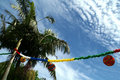 Palmtree party Stock Photography