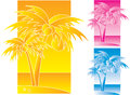 Palmtrees design tropical illustration Stock Photos
