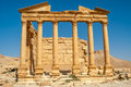 Palmyra funerary temple ruins ancient Stock Photos