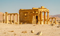 Palmyra temple ruins ancient in Stock Images