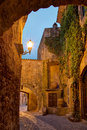 Pals costa brava spain medieval old town view of the famous street by night Stock Image