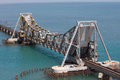 Pamban bridge the is a cantilever on the palk strait which connects rameswaram on island to mainland india indias Royalty Free Stock Image