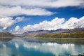 The Pamirs of clouds and lakes. Royalty Free Stock Photo