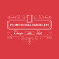 Pamphlets Frame. Vintage Ornament Vector Template. Retro Luxury Royalty Free Stock Photo
