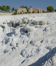 Pamukkale cotton castle bizarre system of reservoirs with limestone walls turkey Stock Photos