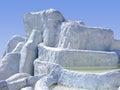 Pamukkale hierapolis in turkey unesco world heritage site Stock Photos
