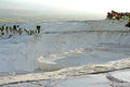 Pamukkale one of miracles of turkey natural limy mountains and medical mineral lakes Stock Photography