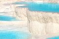 Pamukkale travertine pools Royalty Free Stock Photo