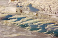 Pamukkale turkey in summer day Royalty Free Stock Images
