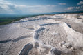 Pamukkale with water dry out landscape of turkey cotton castle Stock Image