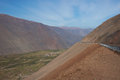 Pan American Highway in Northern Chile Royalty Free Stock Photo