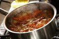 Pan boiling Royalty Free Stock Photography