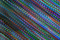 Pan Of Colorful Holiday Lights Creates Abstract Diagonal Background Royalty Free Stock Photo