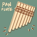 Pan flute illustration of a pipe retro style Royalty Free Stock Photography